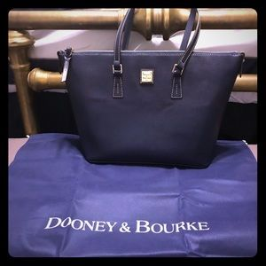 Dooney and Bourke Navy Blue Leather Tote.